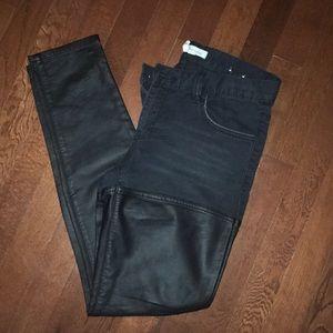 BCBG leather jeans